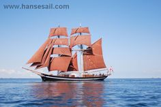 "Tall Ship ""Eye of the wind"" at Hanse Sail Rostock"
