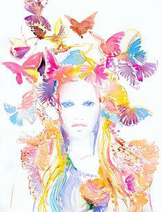 Artmaia: Cate Parr - Ilustrações de moda em aquarela