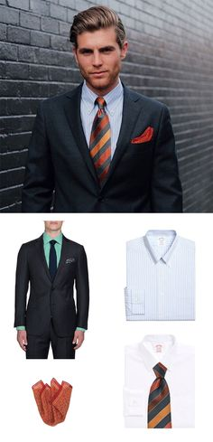 Redefine your collection of gray suits with statement menswear accessories.