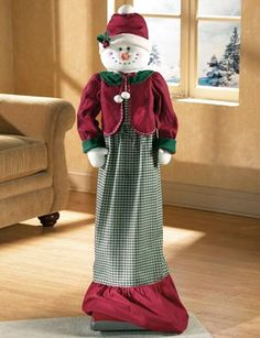vacuum cover patterns | Vacuum Cleaner Cover Snowman Doll Patterns from Collections Etc.