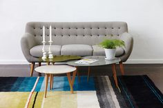 INTERIOR IDEA -@designdelicatessen we give you an Interior idea! HAY S&B Colour carpet 01 blue 170x240cm available at Dream Interiors!