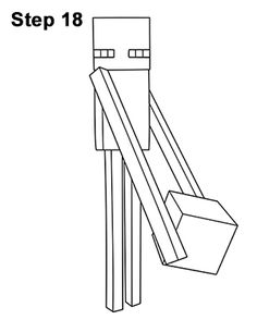 How to Draw an Enderman (Minecraft)