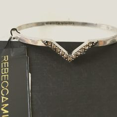 Rebecca Minkoff Chevron Bangle Minimalist and perfect. A great bangle for stacking! NWT, no flaws! Rebecca Minkoff Jewelry Bracelets