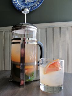French Press cocktail