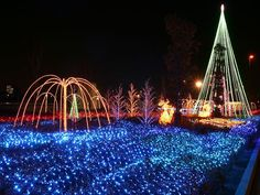 **Bookmarking this for a night out on the town in CT!** The Best Christmas Light Displays & Shows in Connecticut Best Christmas Light Displays, Best Christmas Lights, Hanging Christmas Lights, Decorating With Christmas Lights, Blue Christmas, Holiday Lights, Outdoor Christmas, Beautiful Christmas, Christmas Decorations