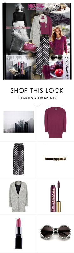 """""""Plum colors for fall"""" by anne-irene ❤ liked on Polyvore featuring Dirk Lindner, Jil Sander, H&M, 2b bebe, Benefit, Pour La Victoire, Louis Vuitton, Dolce&Gabbana, women's clothing and women"""