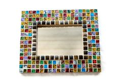 Colorful Mosaic Accent Mirror by GreenStreetMosaics on Etsy, $42.00