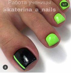 Neon Toe Nails, Acrylic Toe Nails, Pretty Toe Nails, Toe Nail Color, Summer Toe Nails, Cute Toe Nails, Feet Nails, Toe Nail Art, Feet Nail Design