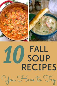It's finally fall and we are ready for soup! We've got 10 easy, healthy, and frugal fall soup recipes to welcome the cooler weather. Kale Potato Soup, Loaded Potato Soup, Fall Soup Recipes, Carlsbad Cravings, Turkey Soup, Bowl Of Soup, Homemade Soup, Paleo Dinner, Frugal Meals