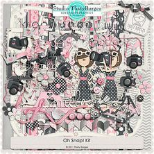 After Five Designs :: Full Kits :: Oh Snap! Kit by Thaty Borges Scrapbooking Freebies, Free Digital Scrapbooking, Digital Scrapbook Paper, Baby Scrapbook, Scrapbook Albums, Digital Papers, Paper Butterflies, Paper Roses, Leaf Template