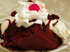 Brownie Sundae a la The Plaza Restaurant in Disney World's Magic Kingdom