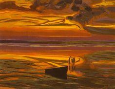 dappledwithshadow:  Léon Spilliaert Marine dorée (1921)