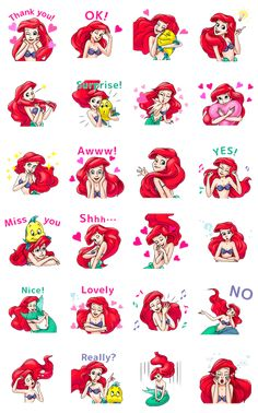Ariel from The Little Mermaid has a new set of animated stickers! Spread the love among friends and family with this adorable heart-themed set.