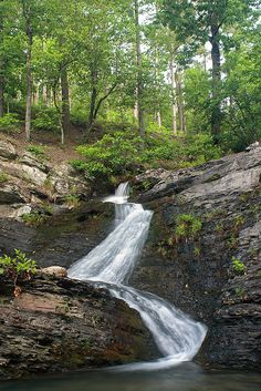 Crooked Creek Falls ~ Caney Creek WMA west of Hot Springs, AR by Ben Pierce Photography, via Flickr
