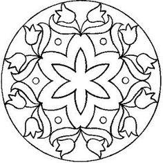 Mandalas Para Pintar: mandalas de flores:
