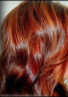 Redhair and highlights.  Fall hair color by Christine Stannis. Click to see how she created the look!