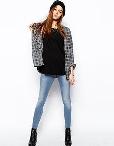Image 1 - ASOS - Jameson - Jegging taille basse en jean à délavage clair