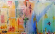 "Saatchi Art Artist Michelle Breda; Painting, ""Point de croix . ( selected on screen by Saatchi gallery )"" #art"