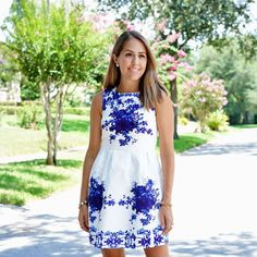 Ever-Pretty blue floral dress, Kate Middleton look for less