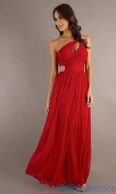Long One Shoulder Prom Dress at SimplyDresses.com