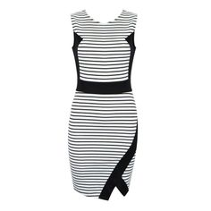 Bodycon dress with assymetrical hem featuring contrast panels. Latest Fashion For Women, Fashion Online, Womens Fashion, Day Dresses, Cool Outfits, Bodycon Dress, Clothes For Women, My Style, Lady