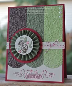 by Carrie ... Carrie Stamps.  Stampin' Up!  SU  Pines & Poinsettias