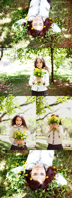 flower picking, this reminds me of us @Ashley Sutton :)
