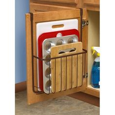 Over the Cabinet Cutting Board and Bakeware Holder Cabinet Door Organizer Find out more about update kitchen cabinets