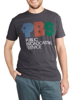 Broadcast of Characters Men's Tee - Knit, Grey, Novelty Print, Casual, Nifty Nerd, Short Sleeves, Crew, Guys