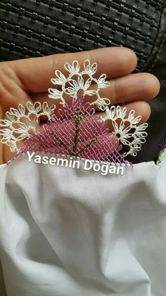 This Pin was discovered by Han Needle Lace, Lace Making, Knots, Needlework, Diy And Crafts, Embroidery, Fabric, How To Make, Istanbul