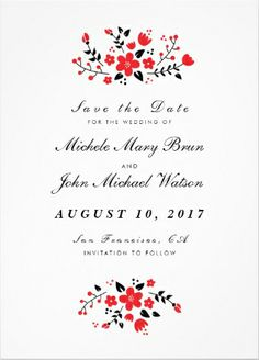 #Save_the_Date invitations. Easy to customize!