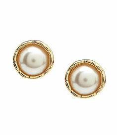 Cezanne Pearl Cap Post Earrings #Dillards