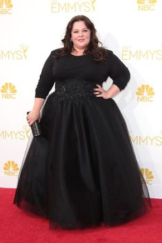 Melissa McCarthy When McCarthy famously reported that she couldn't get anyone to design a red carpet dress for her, fashion got its act together, quick. Here, she wears a lovely custom Marchesa gown with an intricately jeweled cinched waist — proving that sometimes, it pays to put fashion folks on blast.