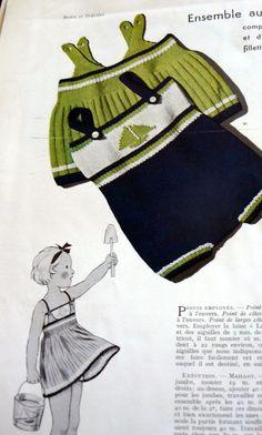 Wish I knew how to knit (VTG 1930s PARIS Pattern Catalog Book MODES et TRAVAUX)