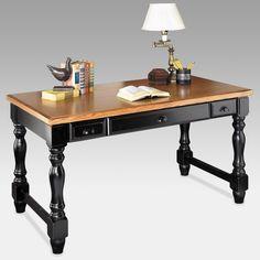 kathy ireland Home by Martin Southampton Writing Desk - Black - SO384