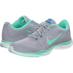 Nike Flex Trainer 5 Women's Cross Training Shoes, Gray ($63) ❤ liked on Polyvore featuring shoes, athletic shoes, grey, woven shoes, laced up shoes, nike footwear, nike shoes et lace up shoes