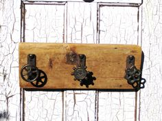 Wall Coat Rack,Architectural, Salvage,Water Faucet,Water Tap Handle,Decorative Coat Hook,Wood Wall Decor,Wood Wall Art,Industrial Towel Rack by BlackCrowCurios on Etsy