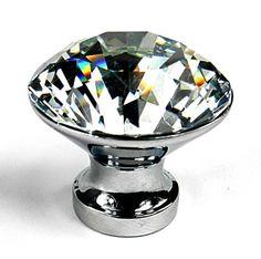 Bling Glass Cabinet Knobs, Kitchen Drawer Pulls U0026 Handles Set/6pc ~ T24 Chic