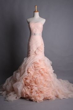 gorgeous!!!!! ? this blush color wedding dress. @ Wedding Day Pins ...