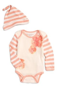 Burt's Bees Baby Organic Cotton Bodysuit & Hat (Baby Girls) available at #Nordstrom
