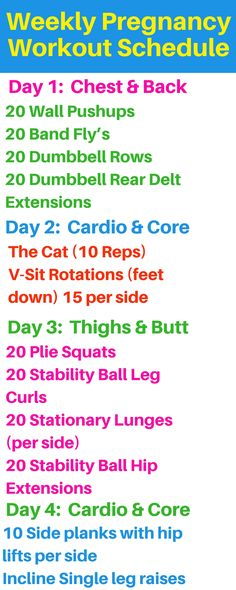 Pregnancy home workout schedule. http://michellemariefit.com/weekly-pregnancy-workout-schedule/