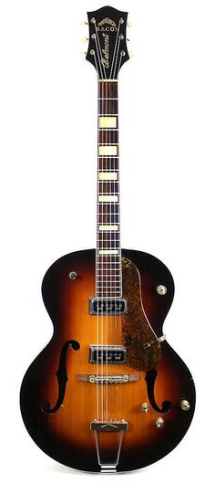 Vintage 1950's Bacon Belmont by Gretsch Hollowbody Electric Guitar in Sunburst | Reverb #gretschguitars