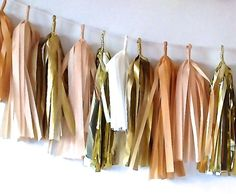 Or hang up a dainty tassel garland. | Community Post: 33 Ways To Stay Golden This Spring