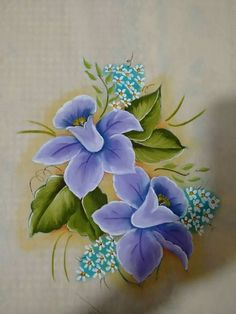 House Plants Decor, Plant Decor, Acrylic Painting Canvas, Fabric Painting, Fabric Paint Designs, Cartoon Flowers, Color Magic, One Stroke Painting, Flower Tattoo Designs