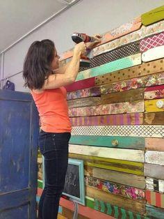 headboard idea for attic guestroom
