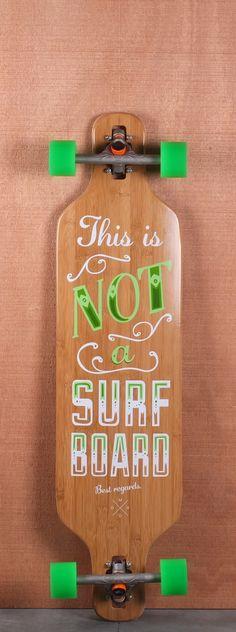 "Madrid 39"" T.I.N.A Surfboard Bamboo Longboard Complete"