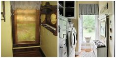 Five Before and After Room Makeovers....so many great ideas....here's the before and after of the laundry room