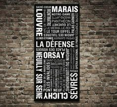 Paris Metro Sign Art $46.00–$693.00 This is a modern variant of a tram destination scroll based on the original 1950s deastination signs, this one is for a modern variant of a Paris Metro Sign Art. As with all art on this site, we offer these prints as stretched canvas prints, framed print, rolled or paper print or wall stickers / decals. Paris suburbs design. http://www.canvasprintsaustralia.net.au/  #Stretchedcanvasprints #Canvasphotos