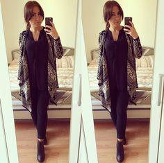poncho cardigan - fashion diary - autumn outfits