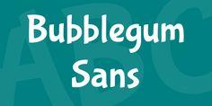 Bubblegum Sans Font · 1001 Fonts